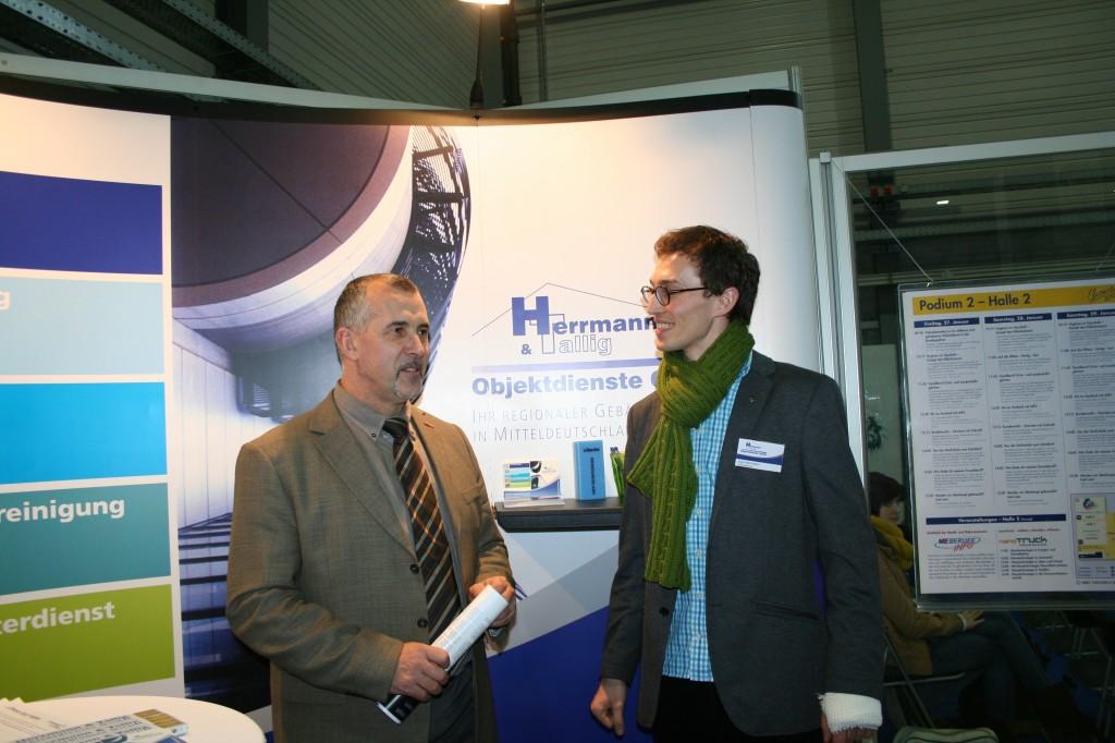 Ingo Herrmann im Gespräch mit dem Präsident der HWK Halle