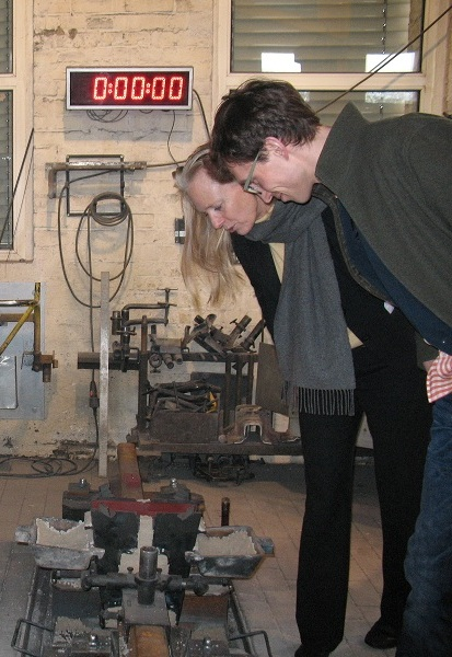 Ingo Herrmann mit Wirtschaftsministerin Birgitta Wolff beim Besuch der Elektro Thermit GmbH & Co. KG (Halle, Ammendorf).